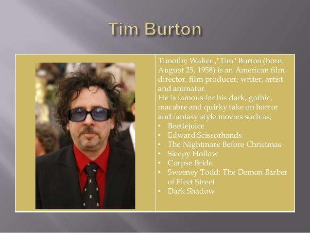 tim burton introduced