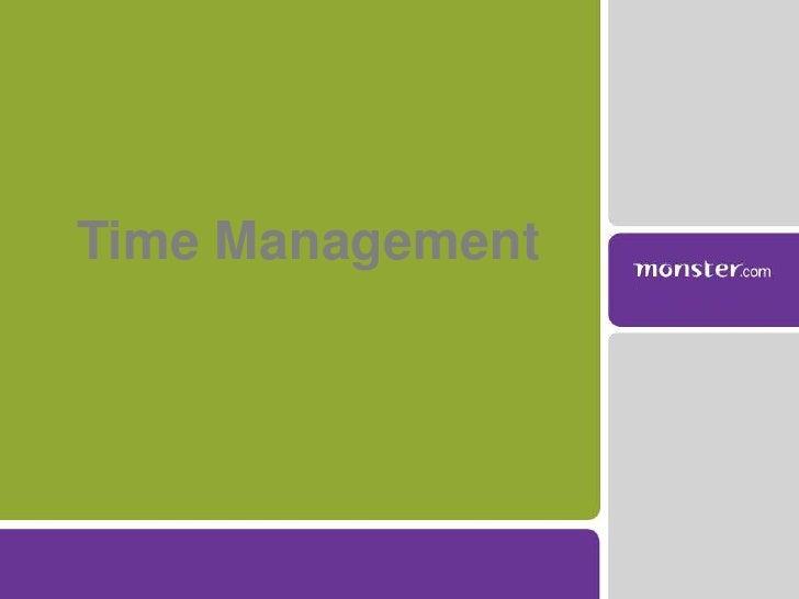 Time Management<br />