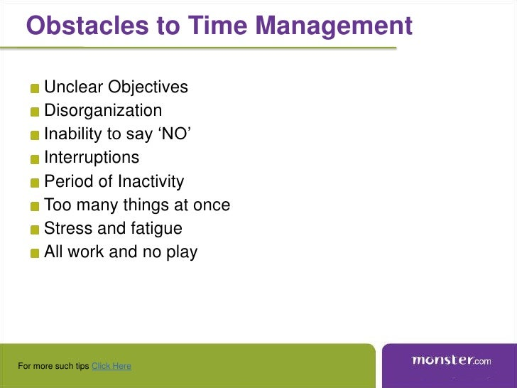 monster india time management key to success