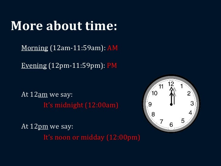 how to tell time am pm