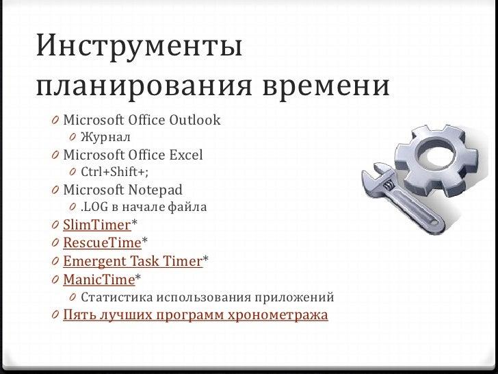 Методы планирования времени 0 «Помидорная техника» планирования     0 Предложена Francesco Cirillo     0 25 минут работы б...