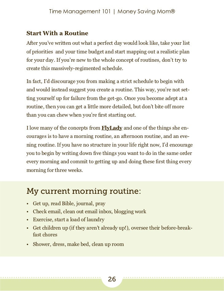 graphic regarding Morning Routine Flylady Printable known as Year manage-101