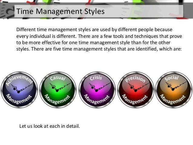 Time management What is style