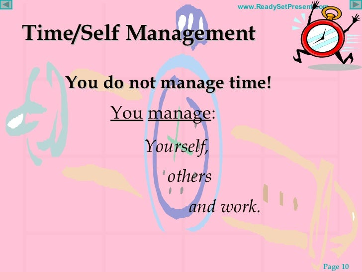 time management powerpoint time self management