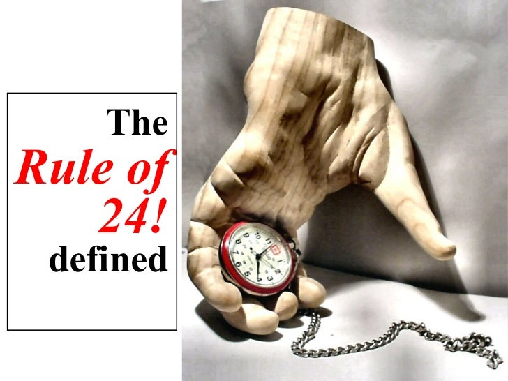 Time Management: The Rule of 24 Slide 3