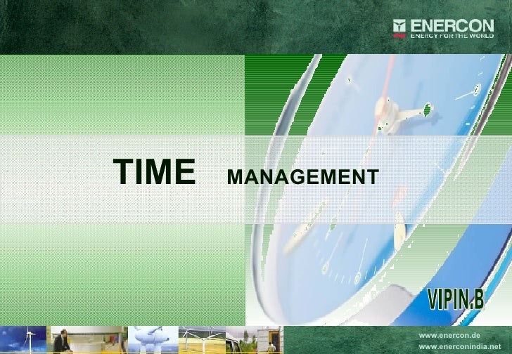 TIME  MANAGEMENT VIPIN.B