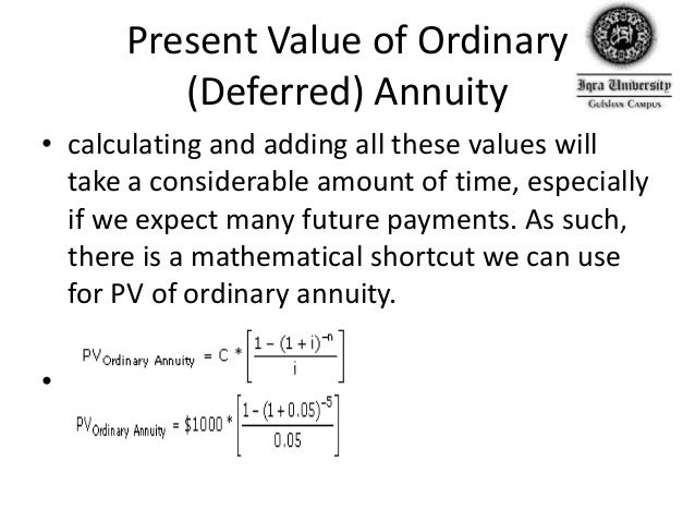 present value of an annuity formula