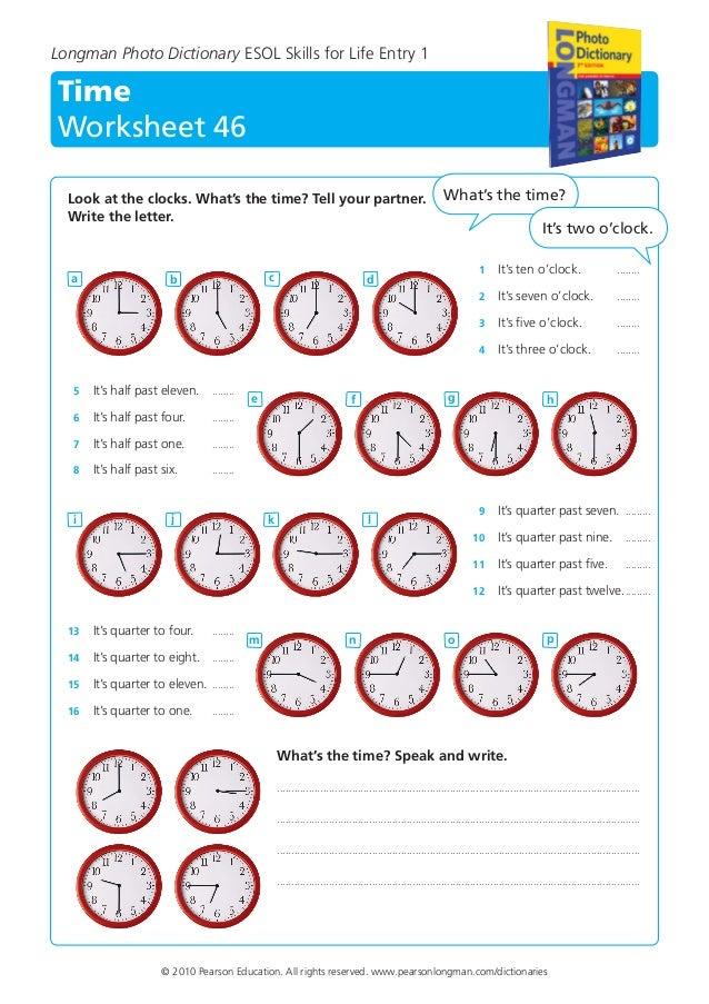 Time Worksheet 45 Longman 1