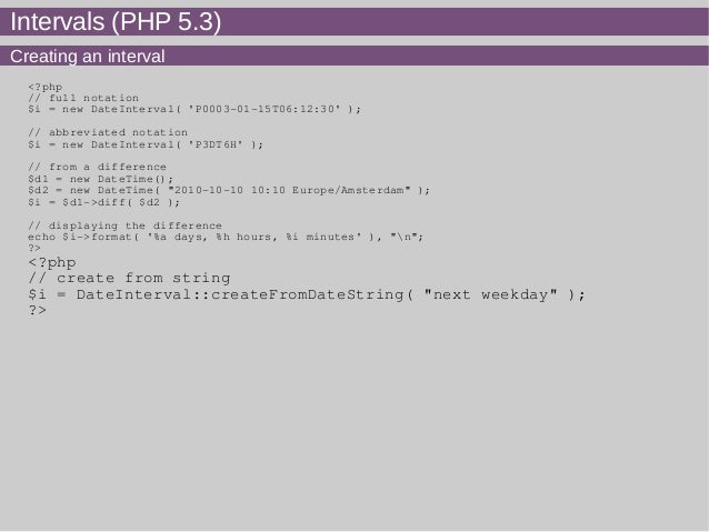 php dateinterval