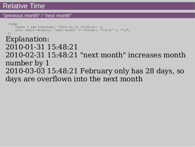 php new date