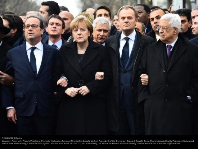 Michael Kappeler—Reuters June: From left: U.S. President Barack Obama, Chancellor Angela Merkel and France's President Fra...