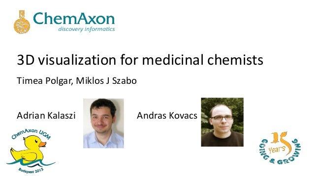 3D visualization for medicinal chemistsTimea Polgar, Miklos J SzaboAdrian Kalaszi Andras Kovacs