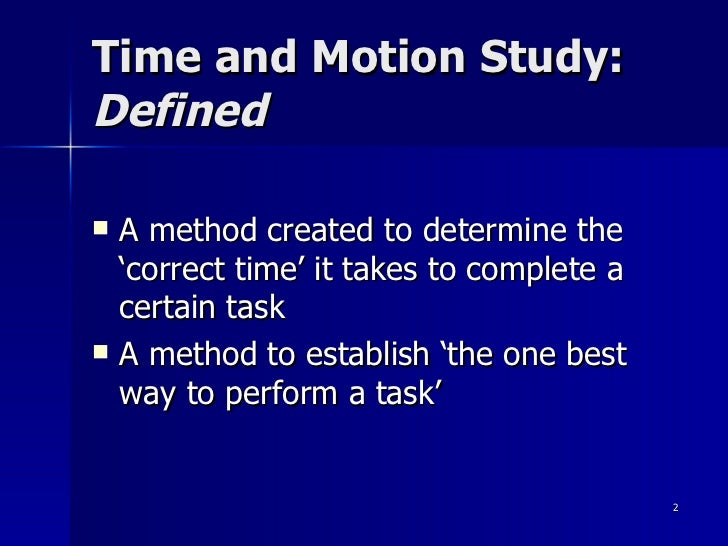 how to perform a time study