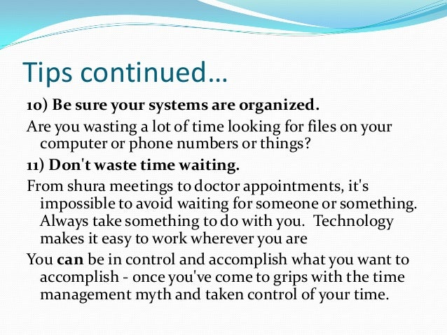 time and stress mgmt Limit stress and enhance your health by following these time management tips.