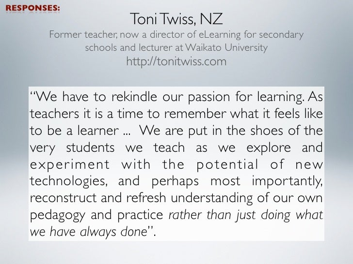 And the winner is - LEARNING. This was far and away the main thing that excited our educators about being a teacher right ...