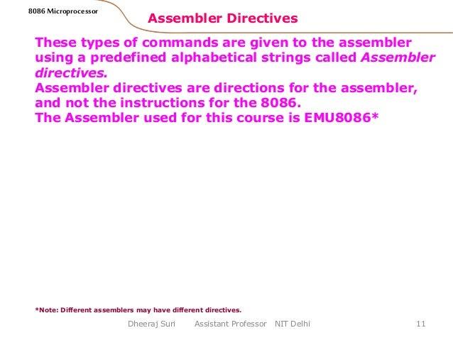 explain assembler directives