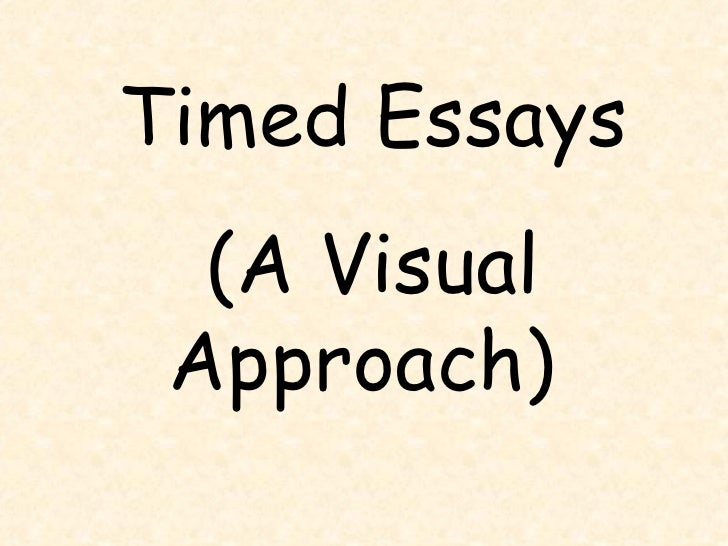 Timed Essays (A Visual Approach)
