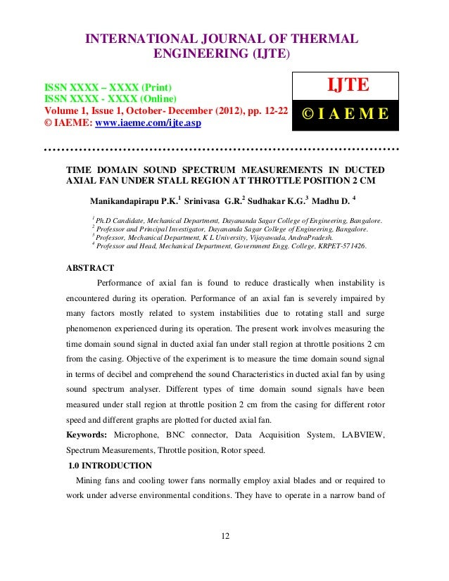 International Journal of Thermal Engineering (IJTE), ISSN XXXX – XXXX (Print), ISSN         INTERNATIONAL JOURNAL OF THERM...