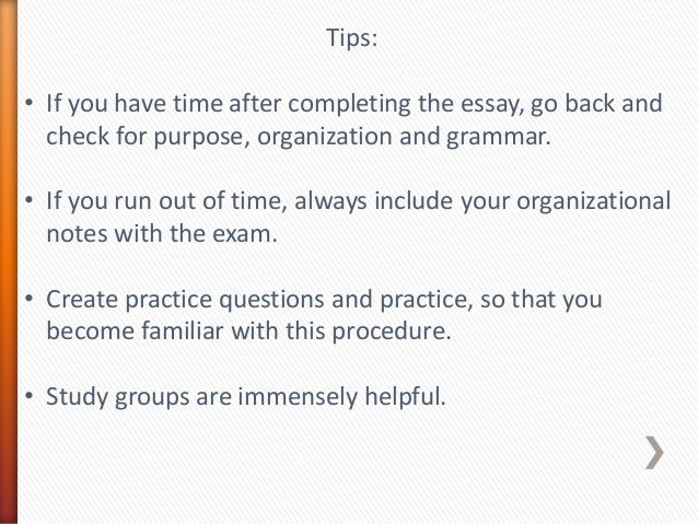 timed essay writing strategies Thesis: the thesis should contain a clear judgment (which of the three essays is the best), and the criteria upon which this judgment is based (2-4 is generally recommended.