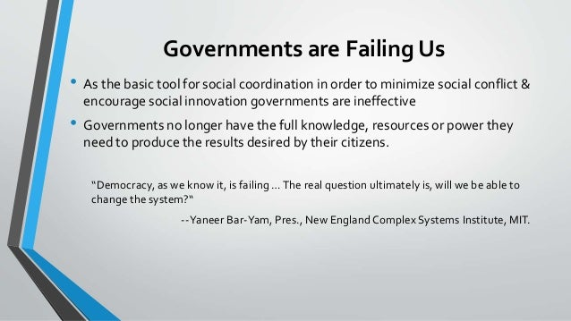 Time for a new paradigm of government Slide 2