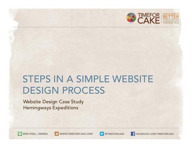 STEPS IN A SIMPLE WEBSITEDESIGN PROCESSWebsite Design Case StudyHemingways Expeditions