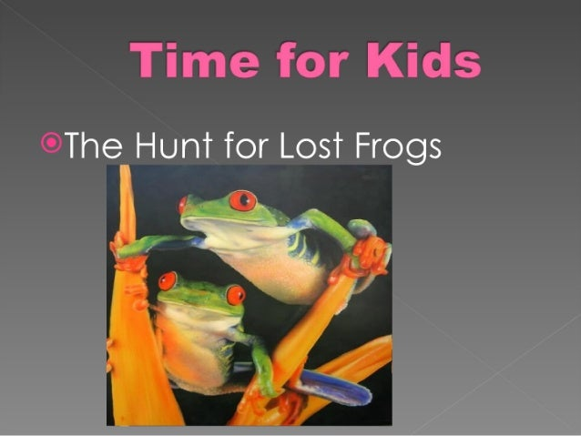 Time for kidsfrogs