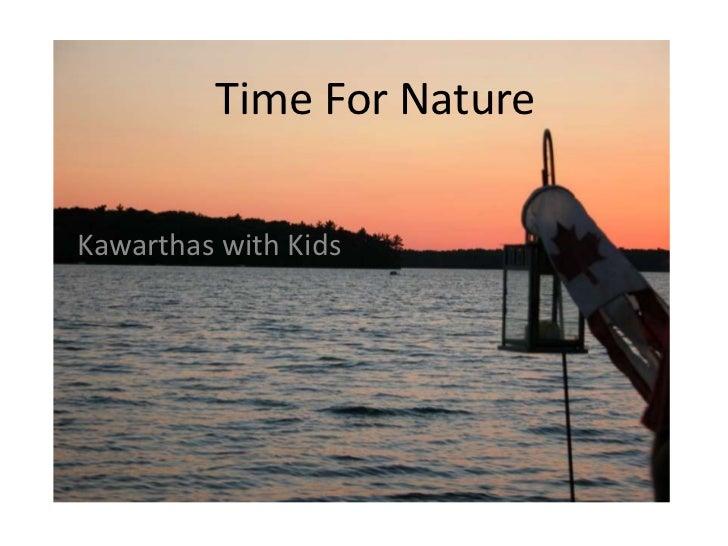 Time For NatureKawarthas with Kids