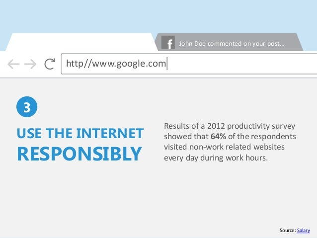 Results of a 2012 productivity survey showed that 64% of the respondents visited non-work related websites every day durin...