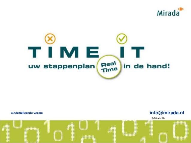 info@mirada.nlGedetailleerde versie © Mirada BV