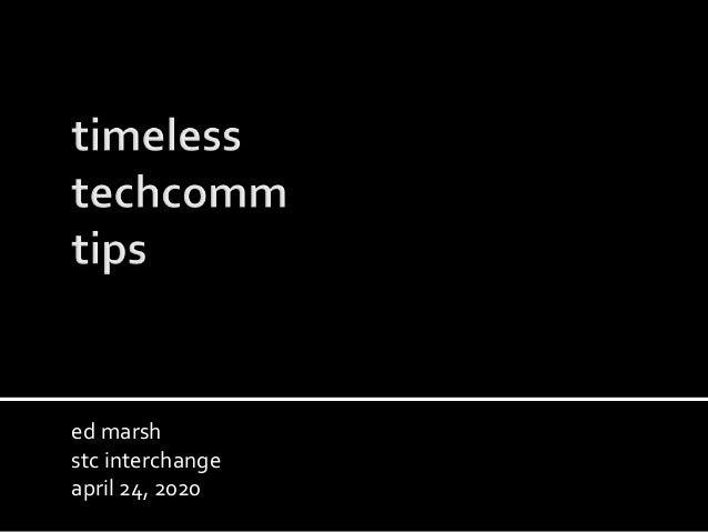 ed marsh stc interchange april 24, 2020