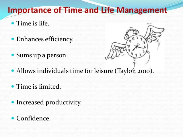 importance of time in life