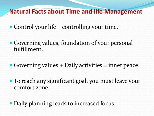What are the ten facts of managerial life.?