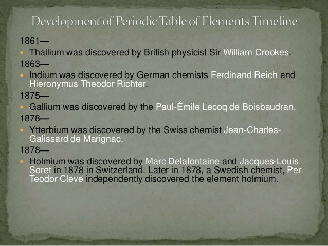 Development of periodic table timeline 11 urtaz Image collections