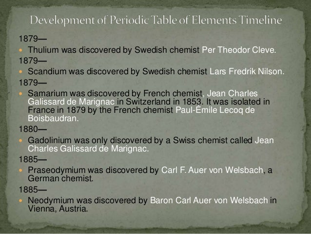 Development of periodic table timeline 12 urtaz Gallery