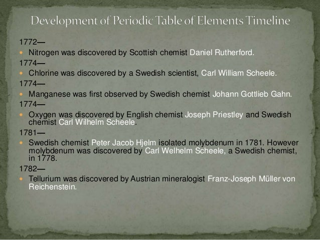 Development of periodic table timeline 4 urtaz Gallery