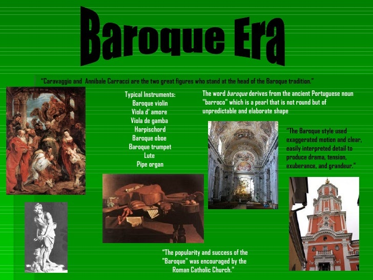 Timeline for During the baroque period