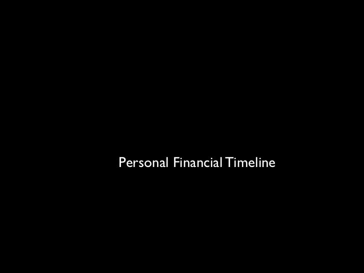 Personal Financial Timeline