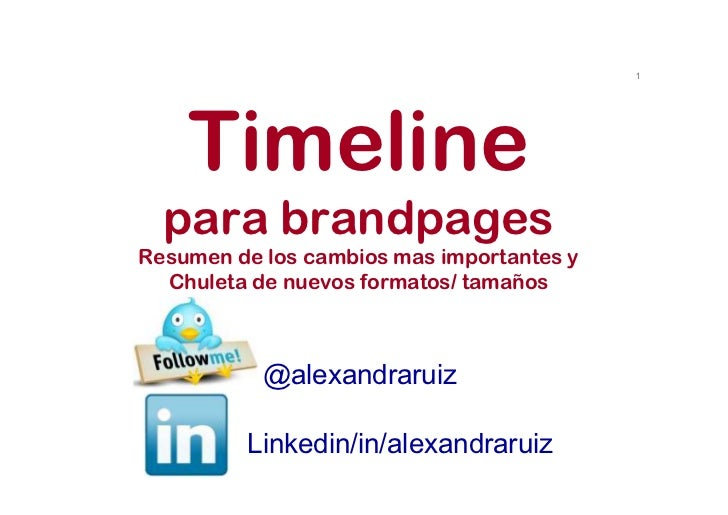 1    Timeline  para brandpagesResumen de los cambios mas importantes y  Chuleta de nuevos formatos/ tamaños           @ale...