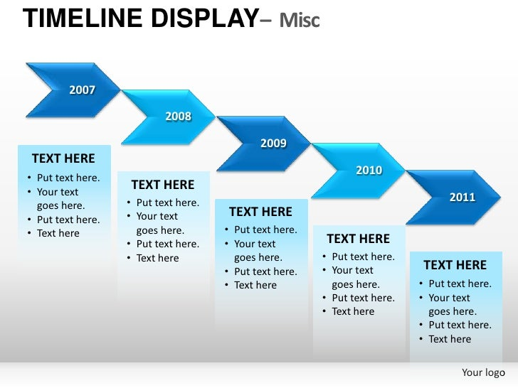 roadmap timeline display misc powerpoint presentation templates