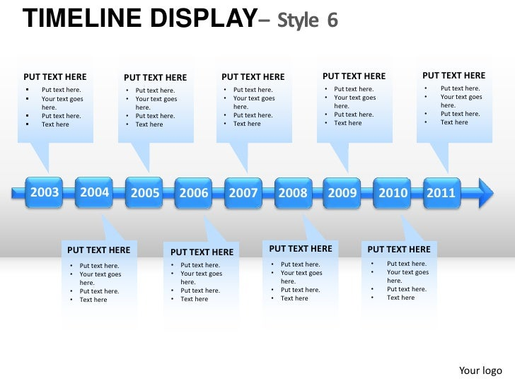 Roadmap Timeline display style 6 powerpoint presentation templates