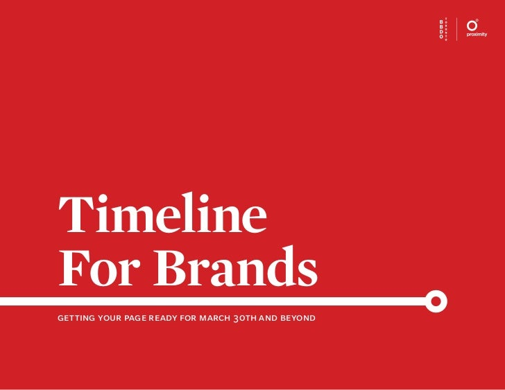 TimelineFor Brandsgetting your page ready for march 30th and beyond                                                    1