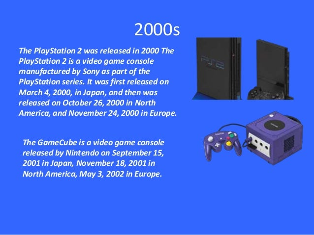Timeline history of gaming