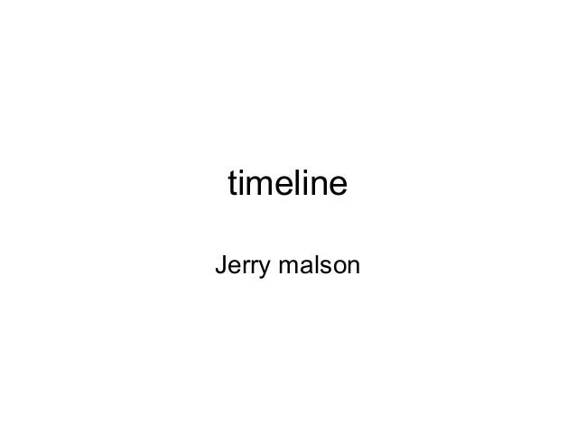 timelineJerry malson