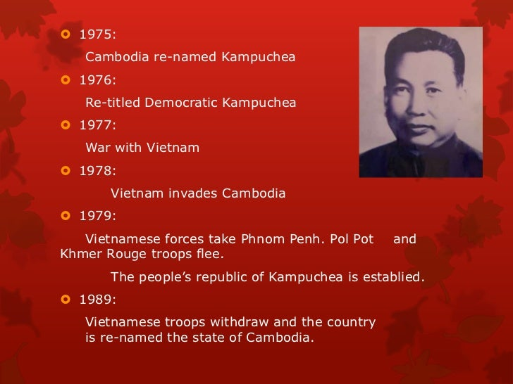 pol pot essay Score for each student's essay from the ashes of rural cambodia arose pol pot's communist party of kampuchea (cpk) it.