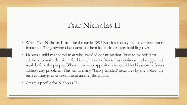 the failures of the tsar and the revolution Why was the tsar nicholas ii unpopular in russia what were the  of the 1905 revolution as well as losing the tsar his title as the  failures of the.