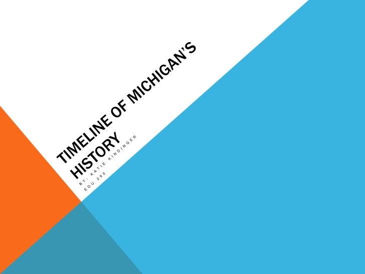 Timeline of Michigan's History<br />By: Katie Kindinger<br />EDU 290<br />