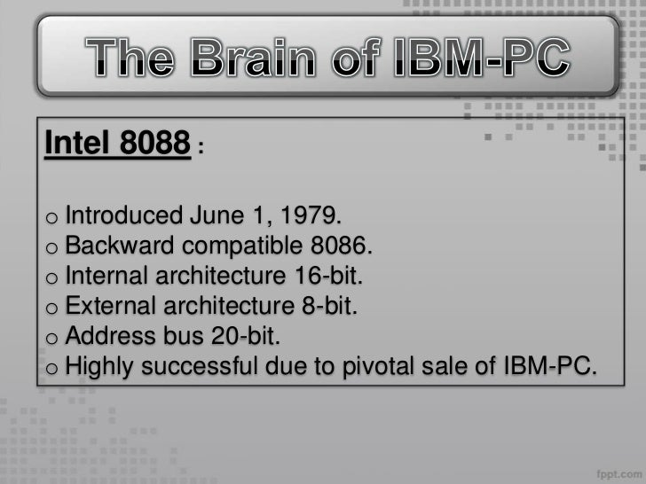 Timeline of processors for Internal architecture of 8086