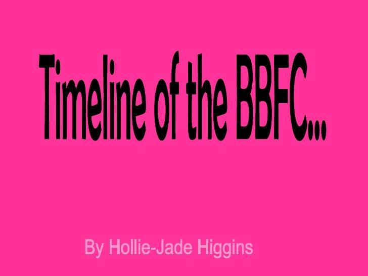 Timeline of the BBFC... By Hollie-Jade Higgins