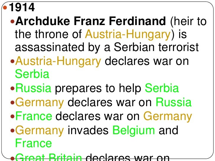 causes for world war i the actions of germany and austria hungary Even if germany was the main cause of the war, it did not enter the war until other  countries  the first country to declare war in wwi was austria-hungary  and  this action caused austria-hungary to declare war on serbia on july 28, 1914.
