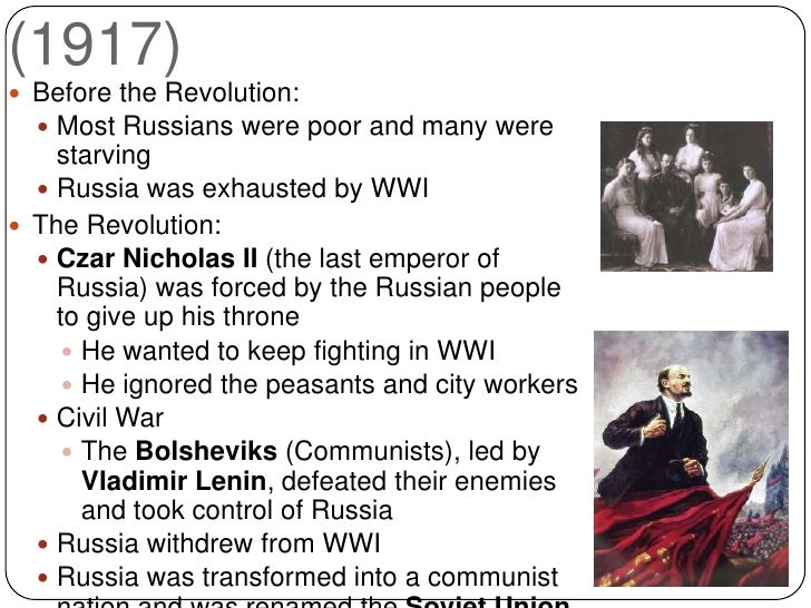 world war 1 contribution to the 1917 russian revolution
